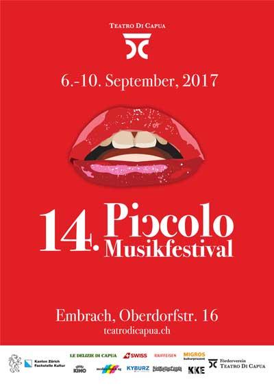 06.–.10.09.17. Piccolo Musikfestival, Embrach ZH